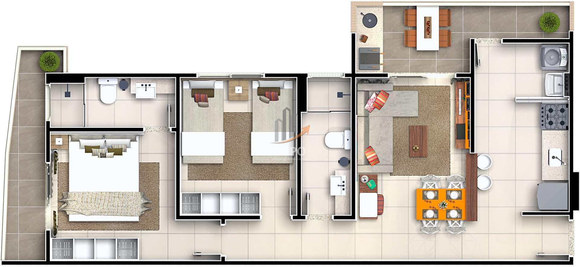 Apartamento com 2 dorms, Guilhermina, Praia Grande - R$ 309 mil, Cod: 4931