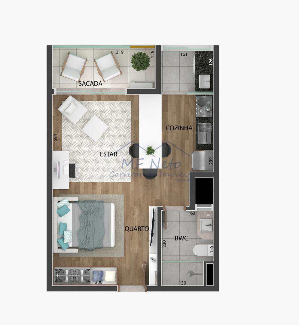 Studio com 1 dorm, Centro, Pirassununga - R$ 147 mil, Cod: 10131566