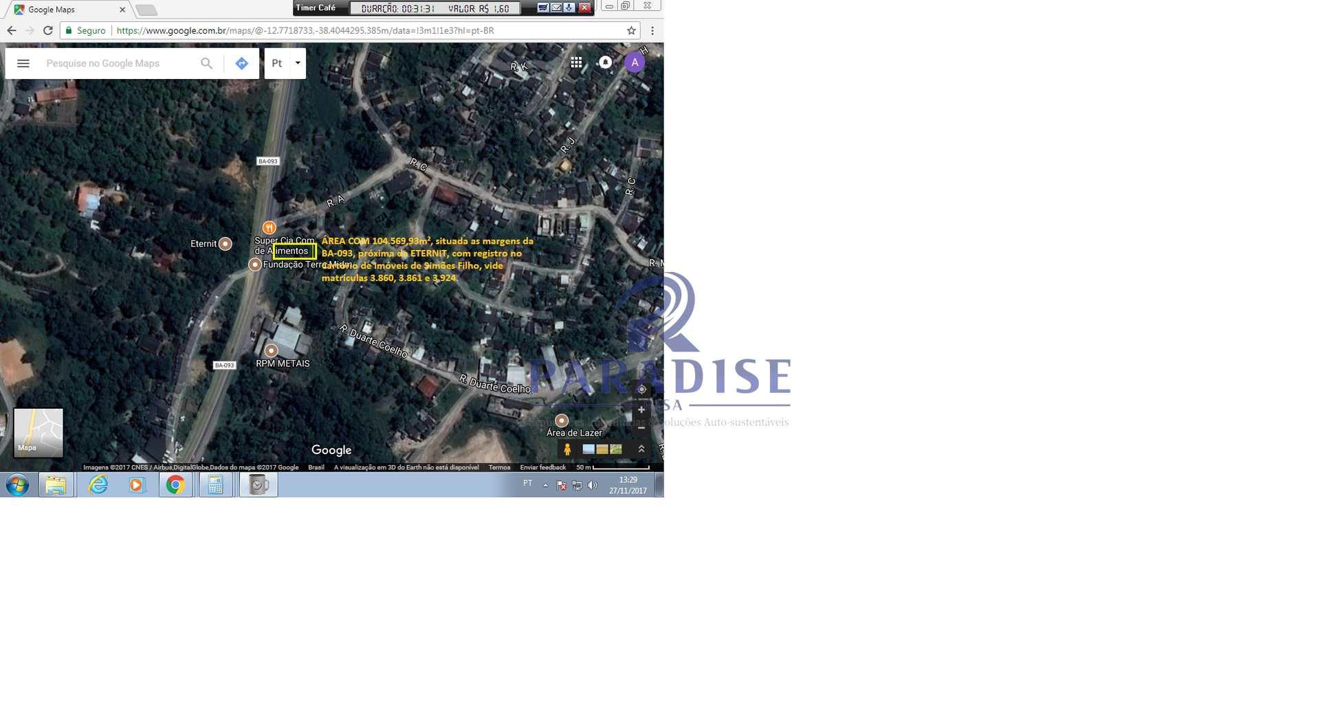 Área, Centro, Simões Filho - R$ 167 mil, Cod: 68464