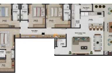 Apartamento com 3 dorms, Gravatá, Navegantes - R$ 950 mil, Cod: 5245