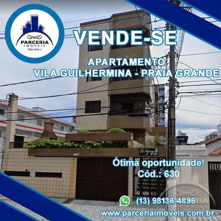 Apartamento com 2 dorms, Guilhermina, Praia Grande - R$ 250 mil, Cod: 630