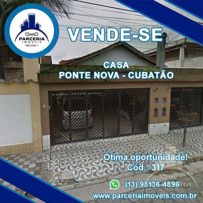 Casa com 2 dorms, Vila Ponte Nova, Cubatão - R$ 321 mil, Cod: 317