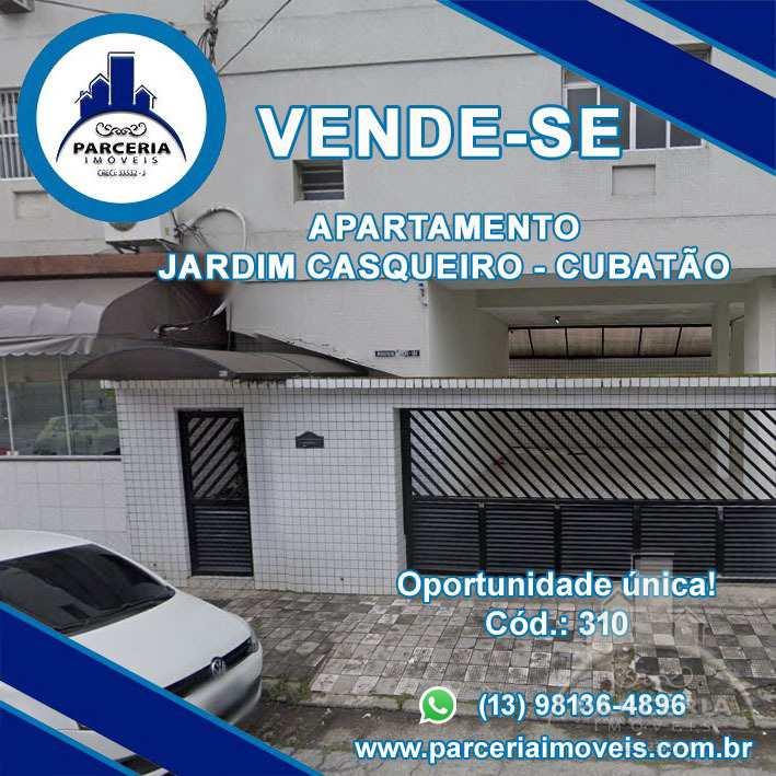 Apartamento com 3 dorms, Jardim Casqueiro, Cubatão - R$ 300 mil, Cod: 310