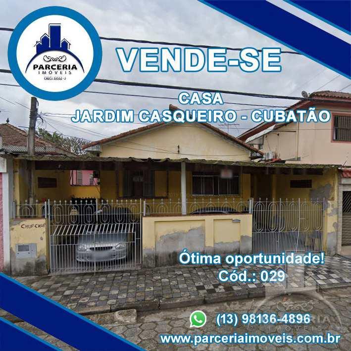 Casa com 2 dorms, Jardim Casqueiro, Cubatão - R$ 390 mil, Cod: 29