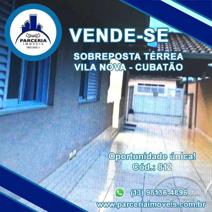 Casa com 2 dorms, Vila Nova, Cubatão - R$ 240.000,00, 0m² - Codigo: 812