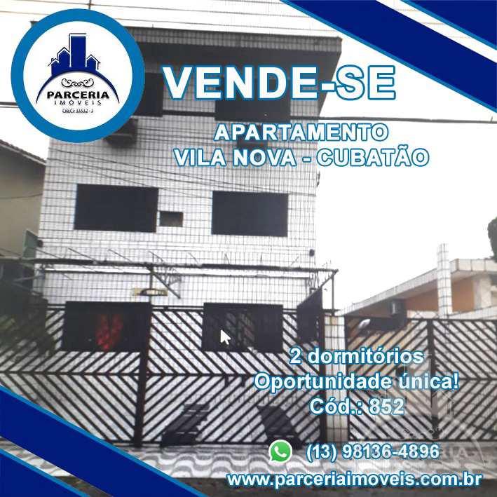 Apartamento com 2 dorms, Vila Nova, Cubatão - R$ 215 mil, Cod: 852
