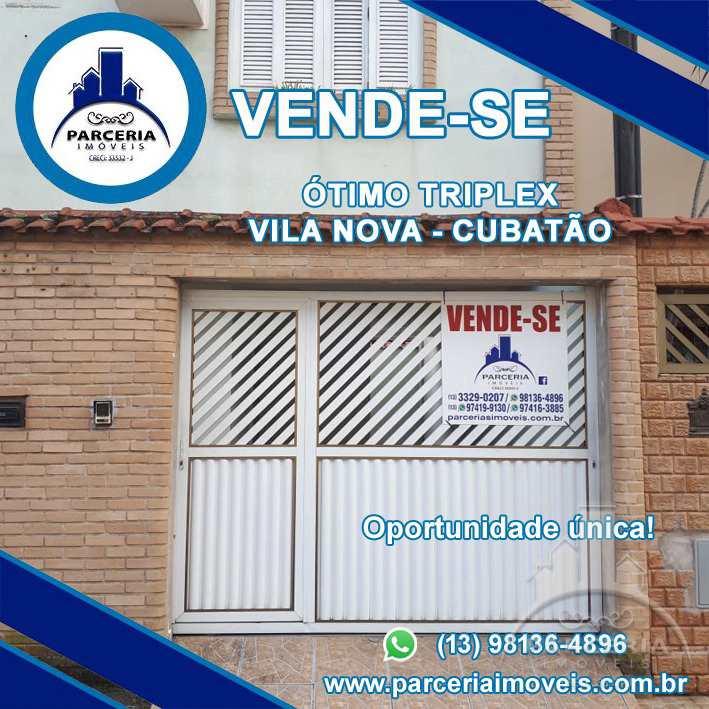 Sobrado com 4 dorms, Vila Nova, Cubatão - R$ 500 mil, Cod: 864