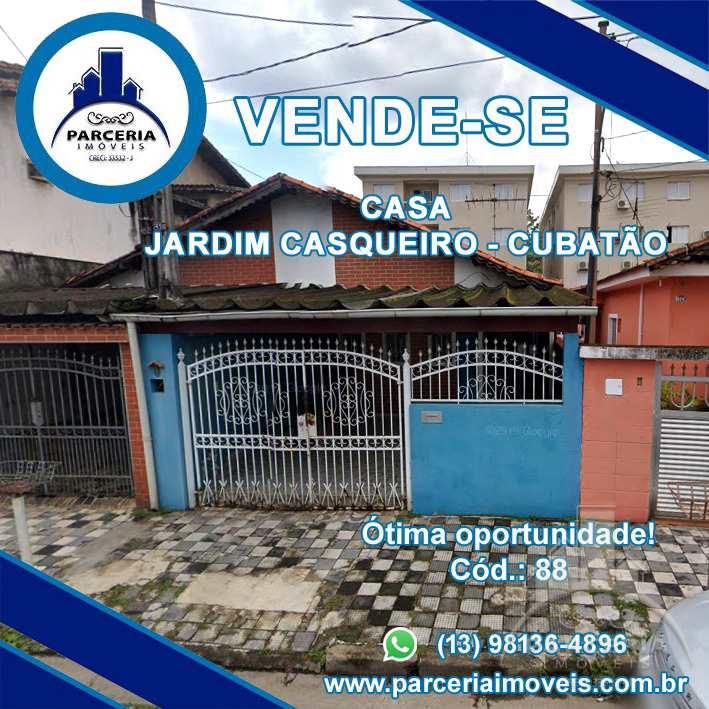 Casa com 2 dorms, Jardim Casqueiro, Cubatão - R$ 380.000,00, 130,62m² - Codigo: 880