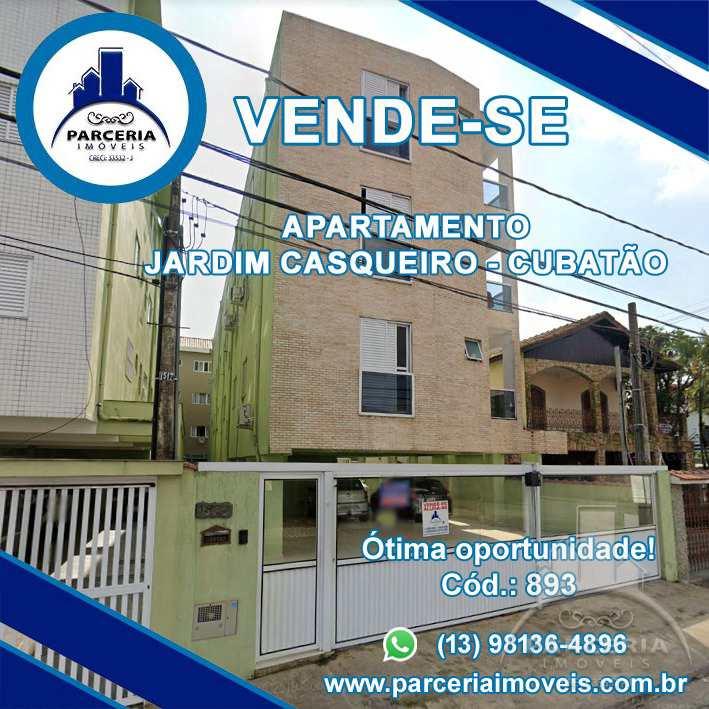 Apartamento com 2 dorms, Jardim Casqueiro, Cubatão - R$ 180 mil, Cod: 893