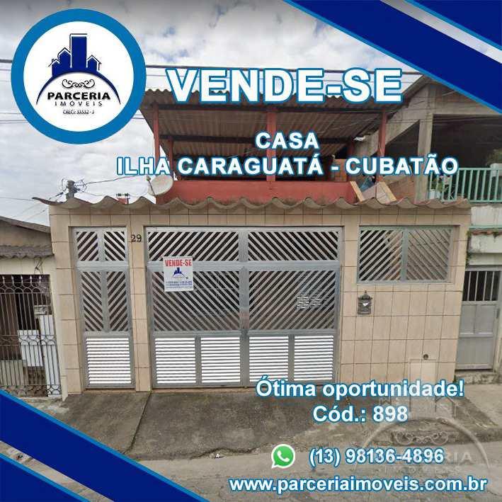 Casa com 3 dorms, Vila Caraguata, Cubatão - R$ 250 mil, Cod: 898