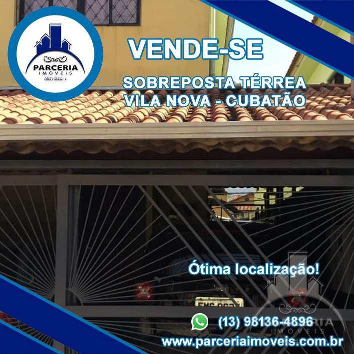 Casa com 2 dorms, Vila Nova, Cubatão - R$ 350 mil, Cod: 1051