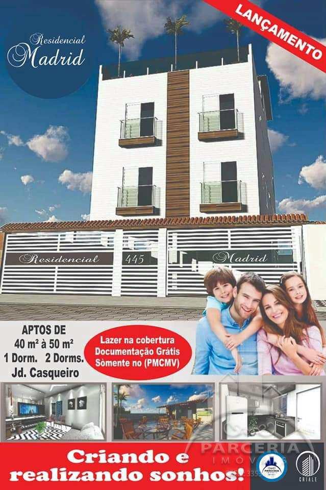Apartamento com 2 dorms, Jardim Casqueiro, Cubatão - R$ 185 mil, Cod: 1066