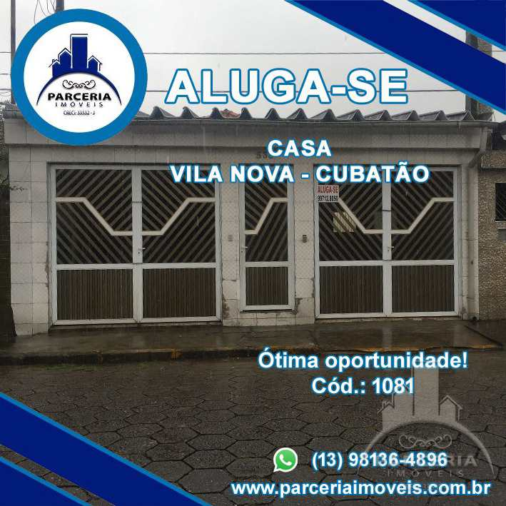 Casa com 3 dorms, Vila Nova, Cubatão, Cod: 1081