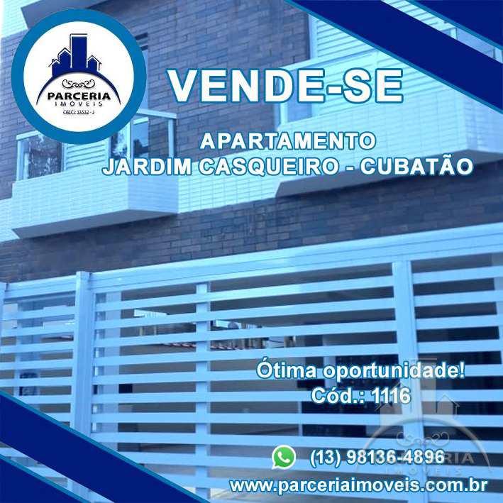 Apartamento com 2 dorms, Jardim Casqueiro, Cubatão - R$ 212 mil, Cod: 1116