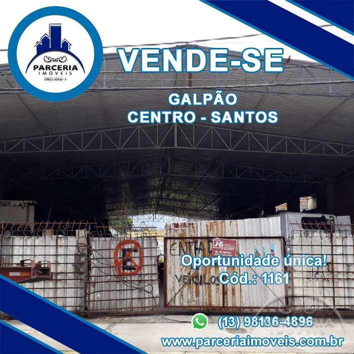 Galpão, Centro, Santos, Cod: 1161