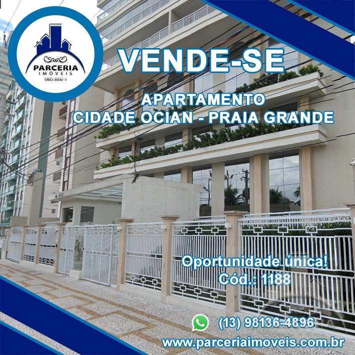 Apartamento com 3 dorms, Aviação, Praia Grande - R$ 1.25 mi, Cod: 1188