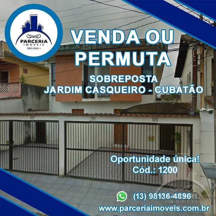 Casa com 3 dorms, Jardim Casqueiro, Cubatão - R$ 350 mil, Cod: 1200