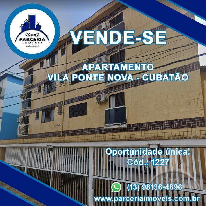 Apartamento com 1 dorm, Jardim Casqueiro, Cubatão - R$ 160 mil, Cod: 1227