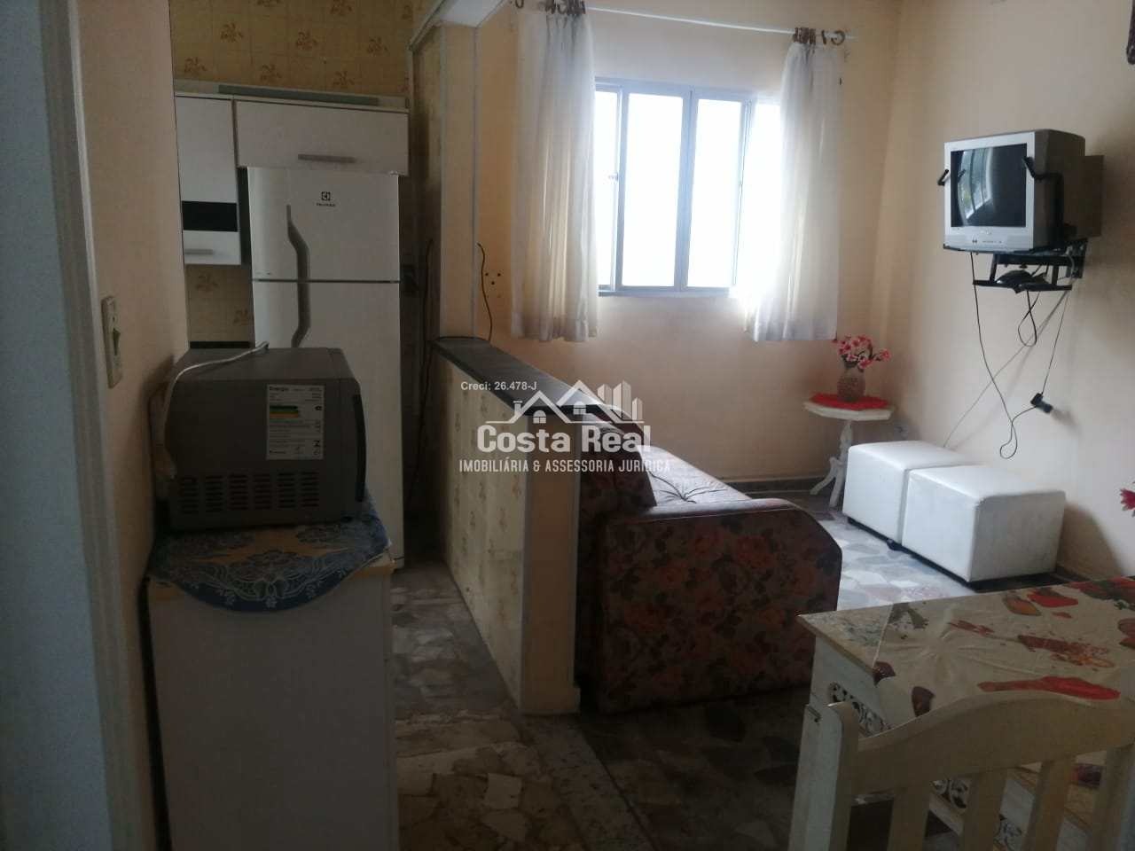 Apartamento com 1 dorm, Canto do Forte, Praia Grande - R$ 160 mil, Cod: 1227