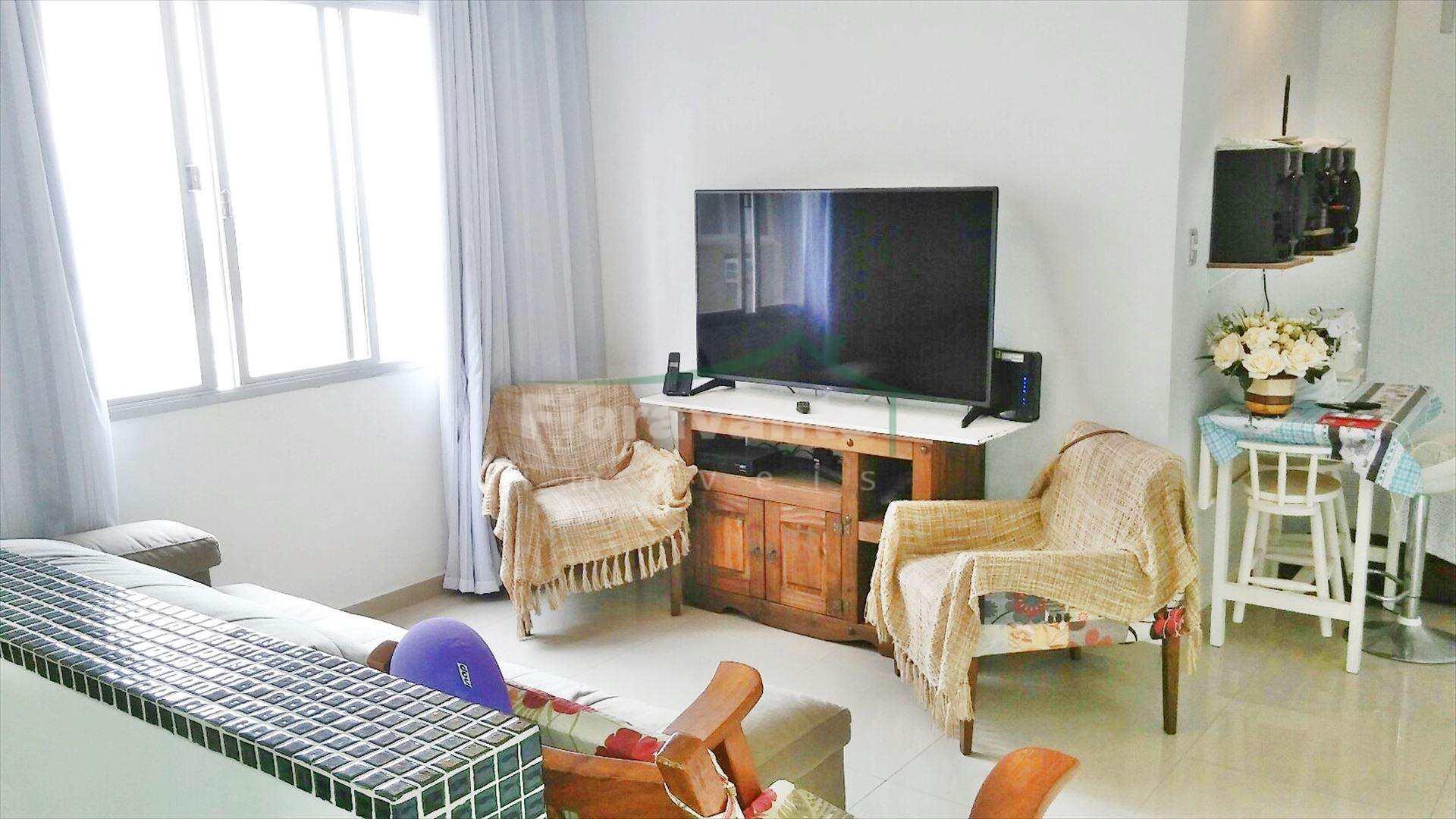 Apartamento Em Santos No Embar Im Vel Totalmente Reformado Com  -> Fotos De Cozinha Conceito Aberto