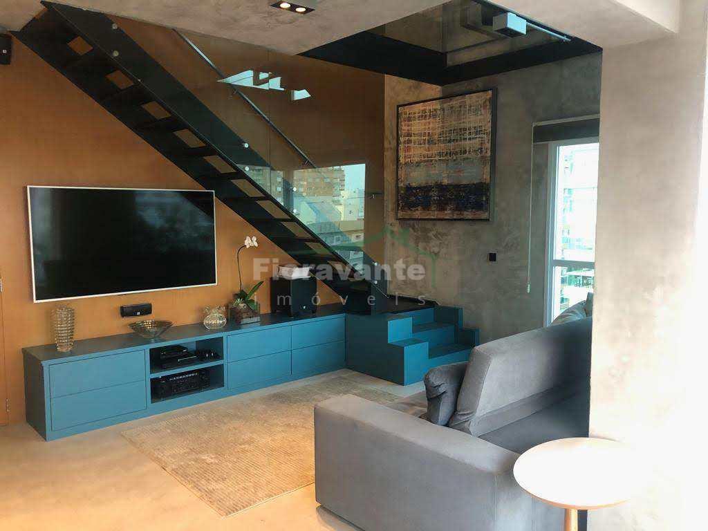 Apartamento Duplex com 2 suítes no Gonzaga, Santos