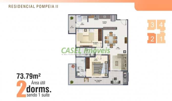 Apartamento com 2 dorms, Ocian, Praia Grande - R$ 25 mil, Cod: 804008