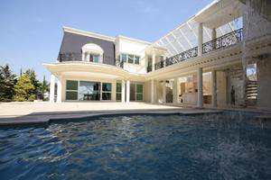 Vista da piscina externa