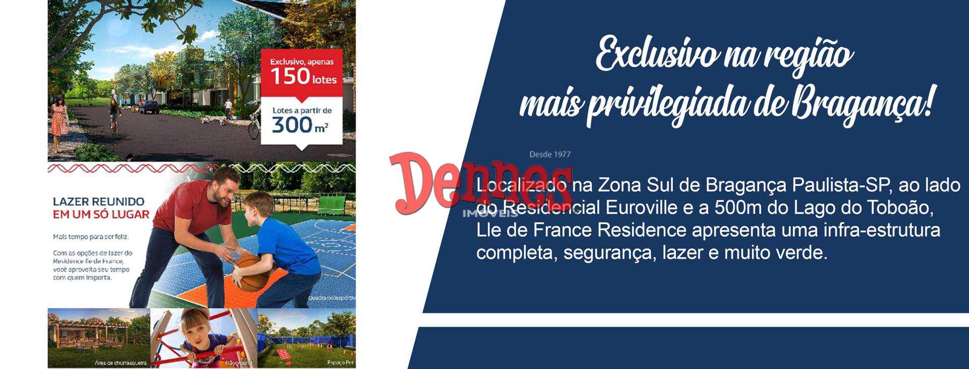 Ile de France Residence - Condomínio Fechado. Lotes a partir de 300m²