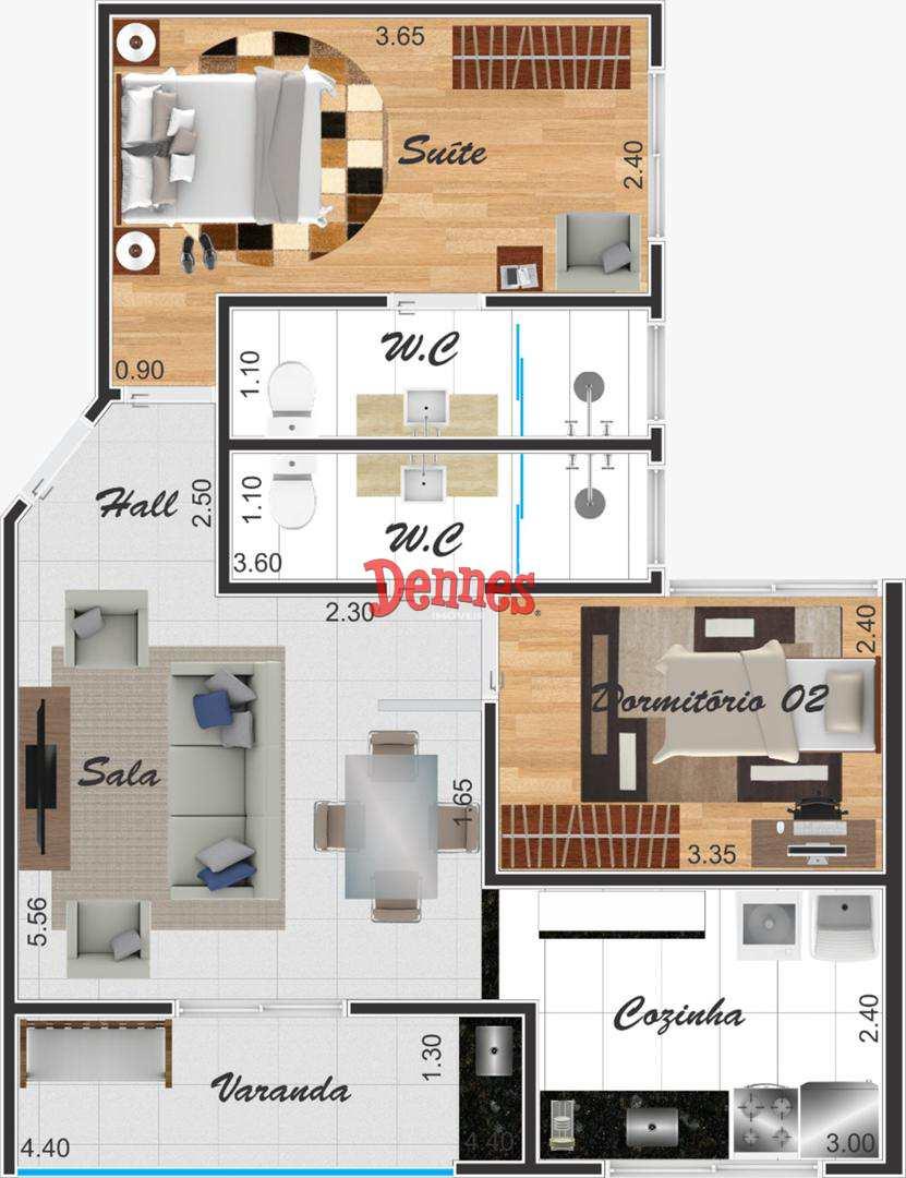 Apartamento com 2 dorms, Vila Santa Libânia, Bragança Paulista - R$ 186 mil, Cod: 394