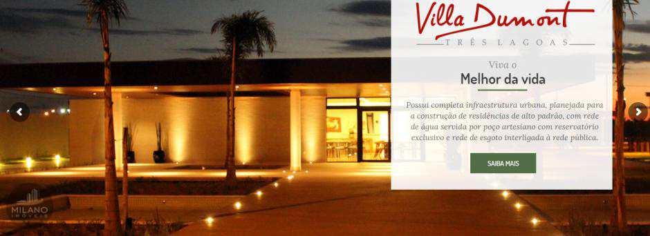 Terreno a venda  Villa Dumont, parcelado ate 180X  Três Lagoas