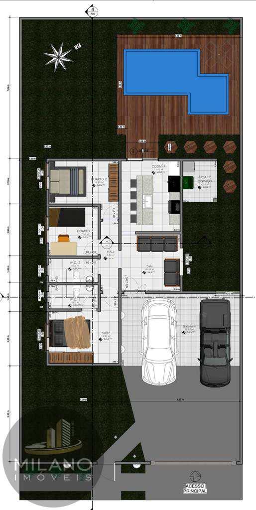 Casa com 3 dorms, Jardim das Américas, Três Lagoas - R$ 300 mil, Cod: 573