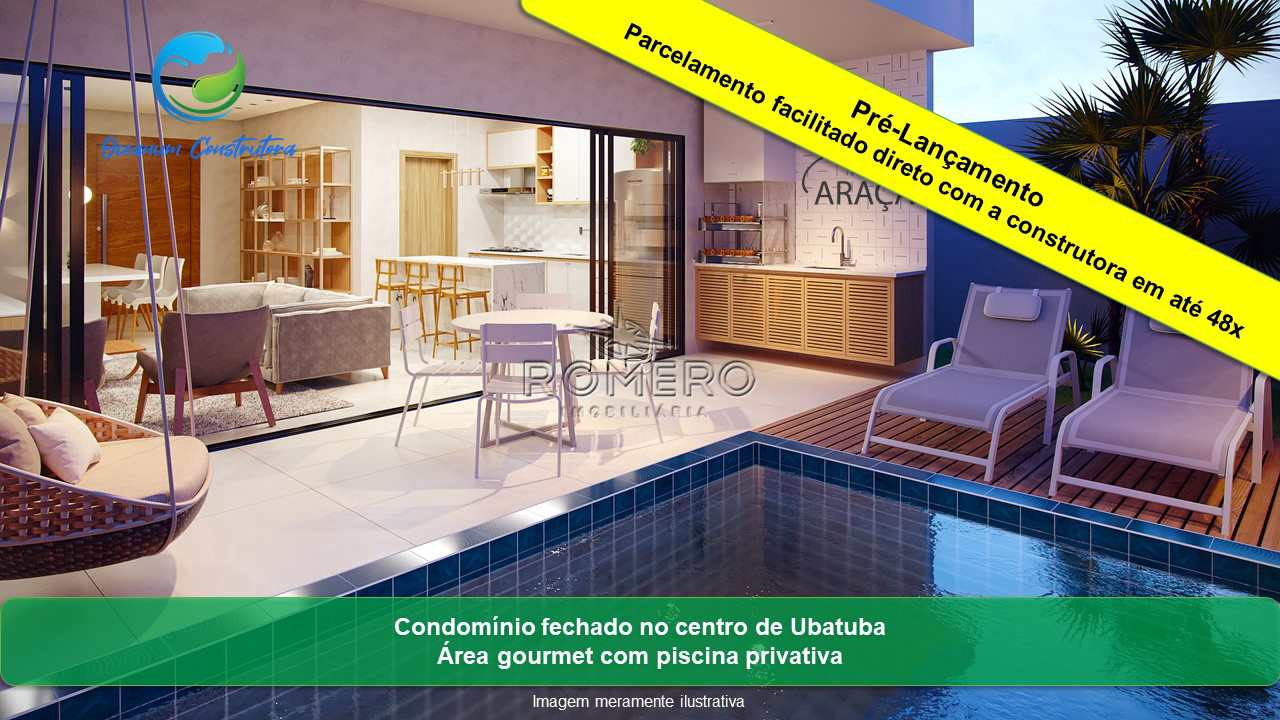 Residencial Araçá, 3 suítes, Ubatuba - R$ 499 mil, Cod: 1211