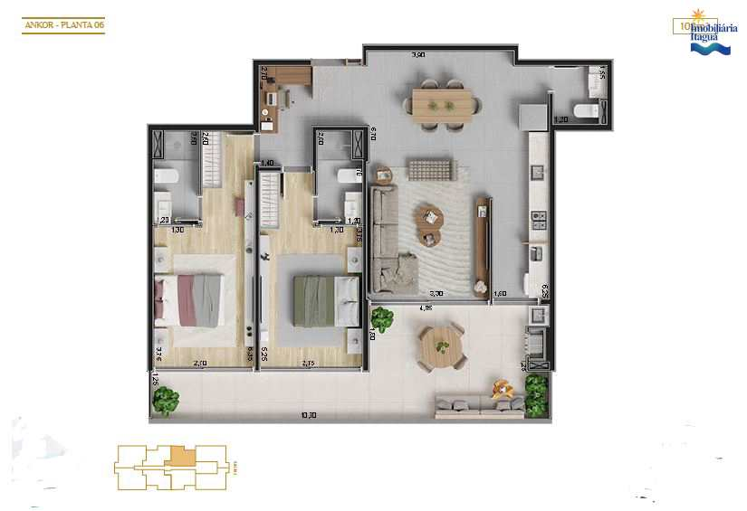 Lançamento apartamento, Itagua, Ubatuba - R$ 855 mil,