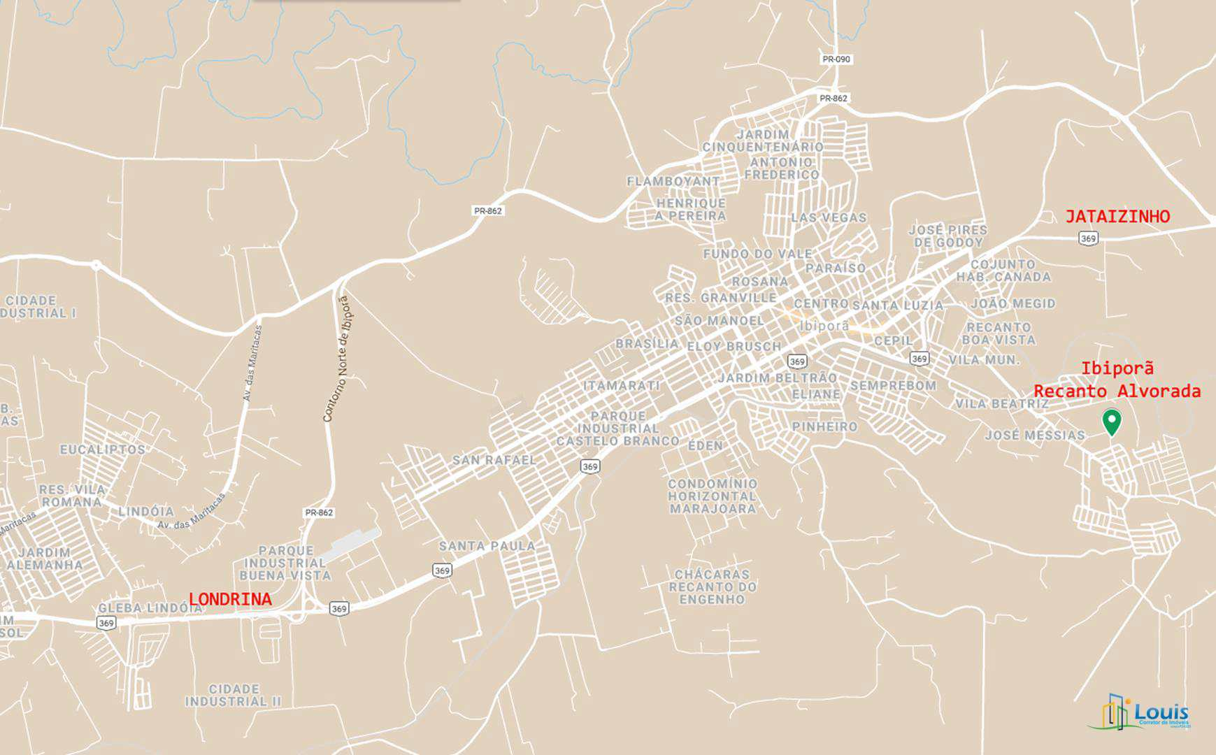 Terreno 250m², Recanto Alvorada (LT 06), Ibiporã/PR