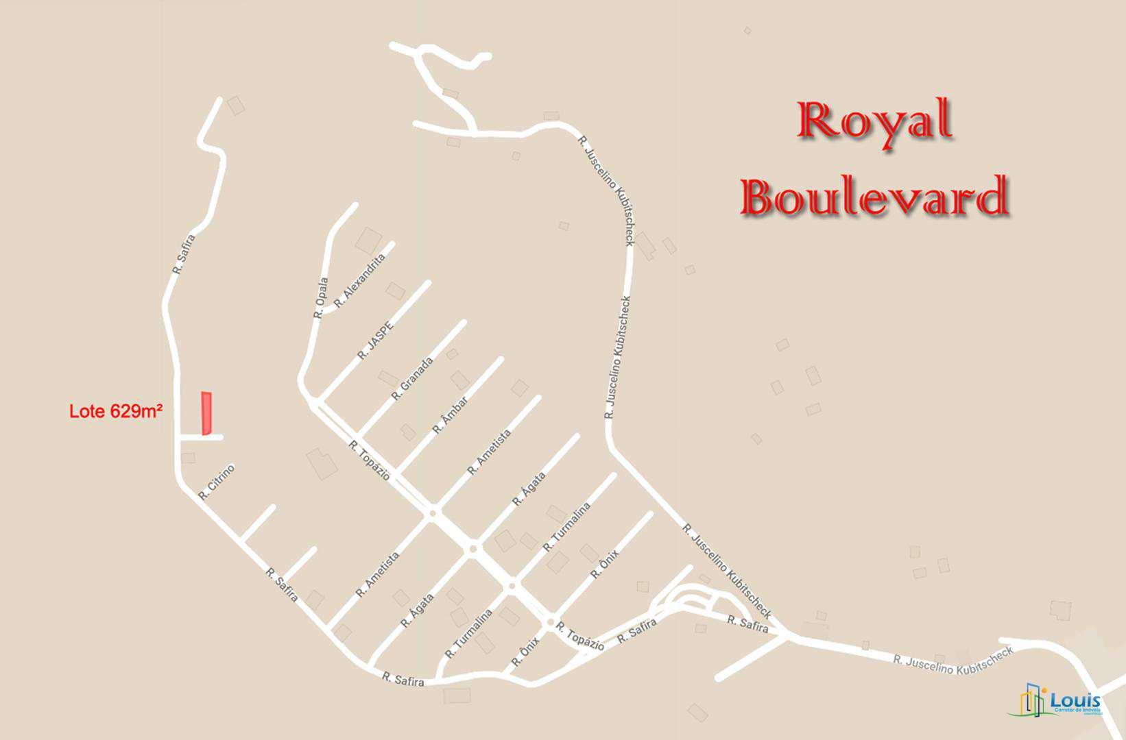 Terreno 629m², Cond. Royal Boulevard - Ibiporã/PR