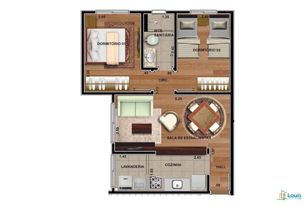 Apartamento com 2 dorms, Conjunto Vivi Xavier, Londrina - R$ 150 mil, Cod: 312