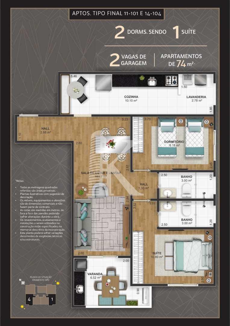 Apartamento com 1 dorm, Ocian, Praia Grande - R$ 253 mil, Cod: 4537