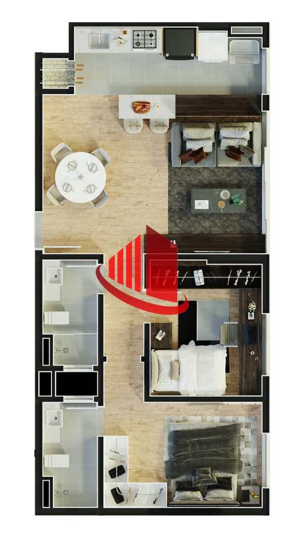 Apartamento em Construção Suíte + 1 no Centro, Chapecó