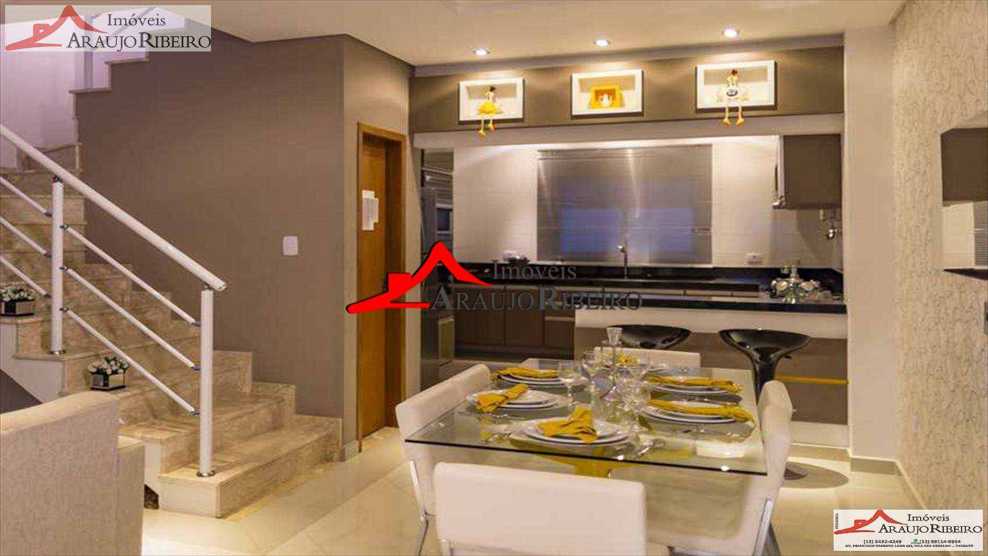 Sobrado de Condomínio com 3 dorms, Vila Areao, Taubaté - R$ 438 mil, Cod: 5002