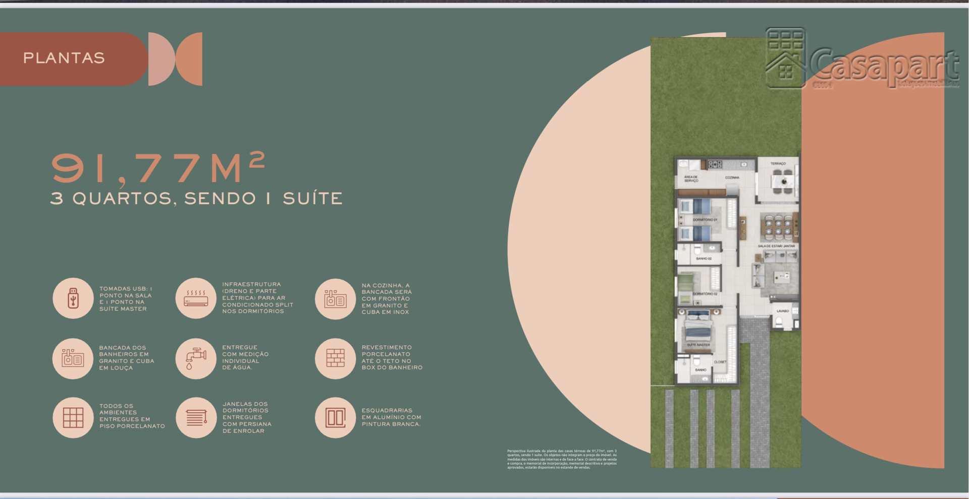 Casa de Cond com 3 dorms, Parque dos Novos Estados
