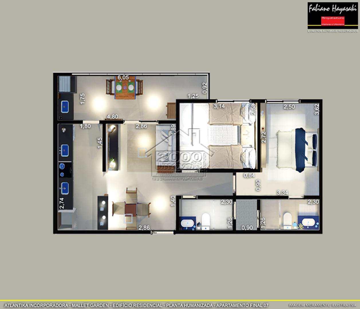 Apartamento com 2 dorms, Boqueirão, Praia Grande - R$ 277 mil, Cod: 1350