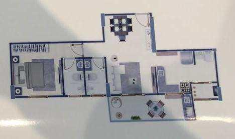 Apartamento com 1 dorm, Guilhermina, Praia Grande - R$ 280 mil, Cod: 4694