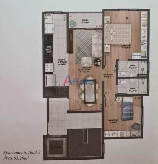 Residencial Mathias - 2 Dorms. - Rio Branco
