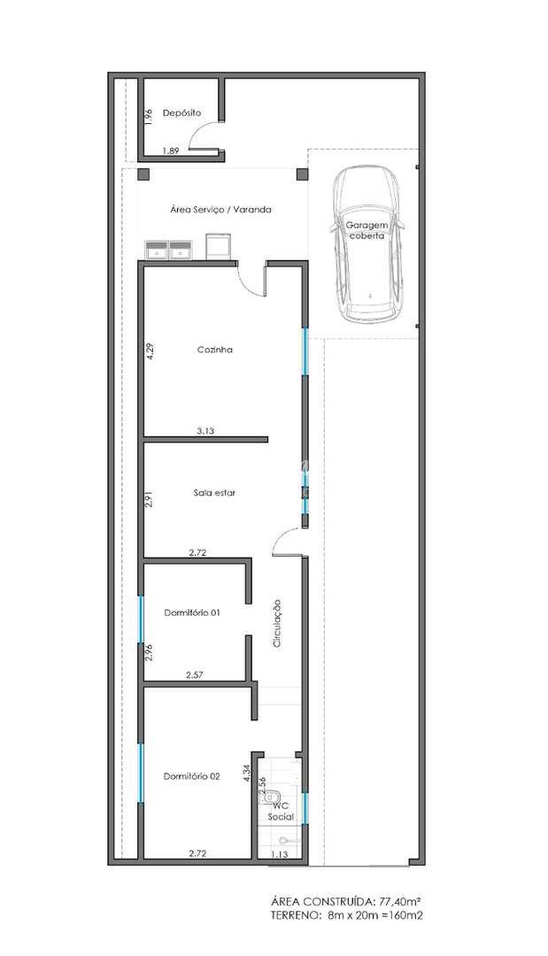 Casa com 2 dorms, Centro, Piacatu - R$ 135 mil, Cod: 135