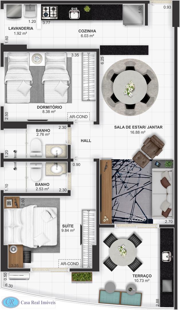 Apartamento com 2 dorms, Tupi, Praia Grande, Cod: 494