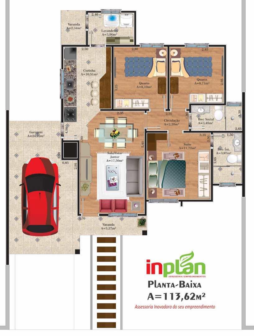 Casa com 3 dorms, Bairro Medianeira, Três de Maio, Cod: 174