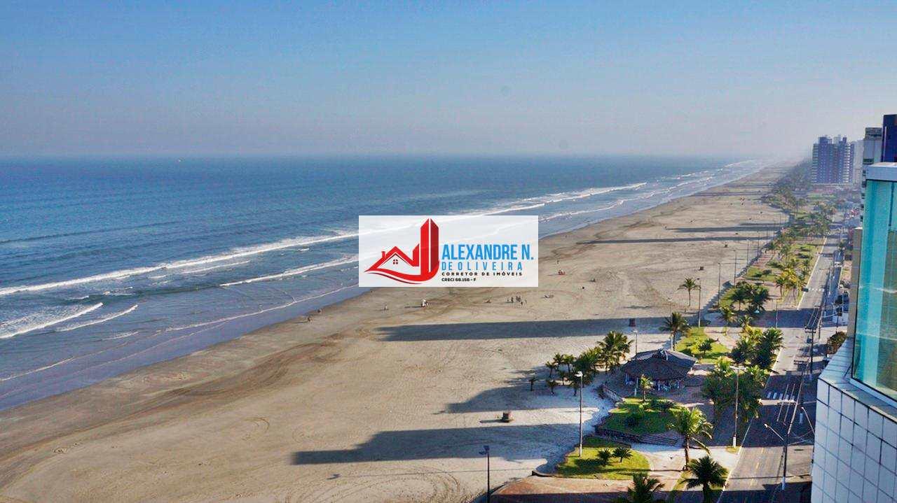 Frente ao mar 1, 2 e 3 dormitórios suíte, sacada gourmet, piscina, salão de jogos, salão de festas, gás encanado, financiamento direto construtora, Praia Grande