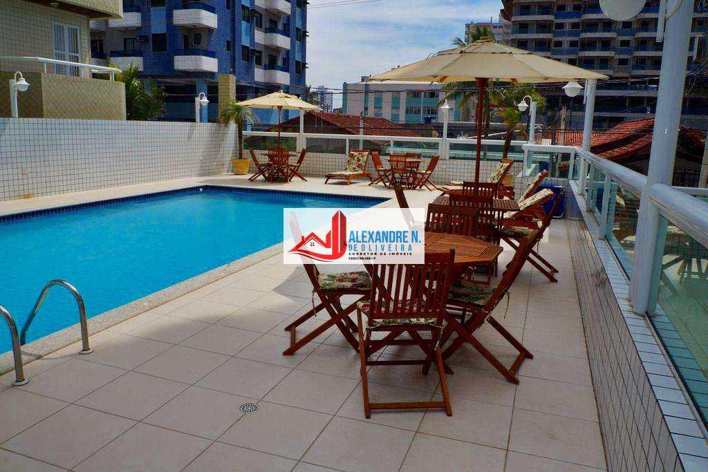 Vista para o mar 1 e 2 dormitórios c/ sacada gourmet, piscina, gás encanado, portaria 24 horas, espaço gourmet, 100 metros da praia, na Ocian em Praia Grande