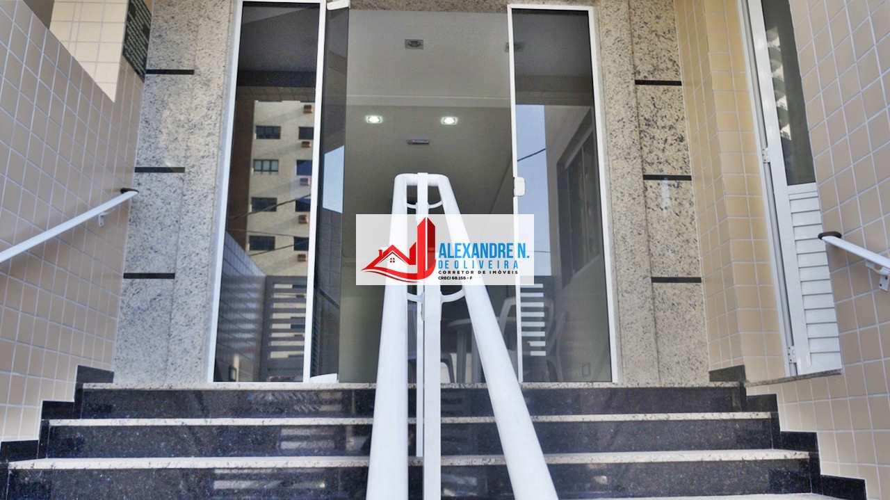Vista-mar, 2 dorms, Caiçara, Praia Grande, R$ 400 mil,  AP00489
