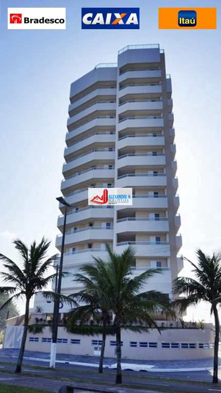 Vista mar, 2 dorms, Caiçara, Praia Grande, R$ 400 mil,  AP00489